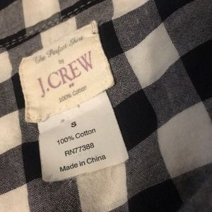 J. Crew Tops - J.Crew black/white check button down